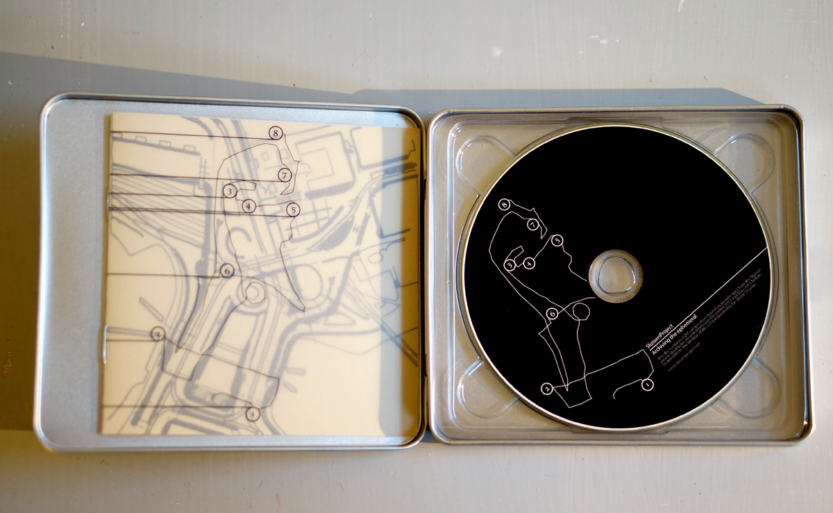 One of the productions, an archival CD featuring 8 Slussen 'soundscapes' compositions.