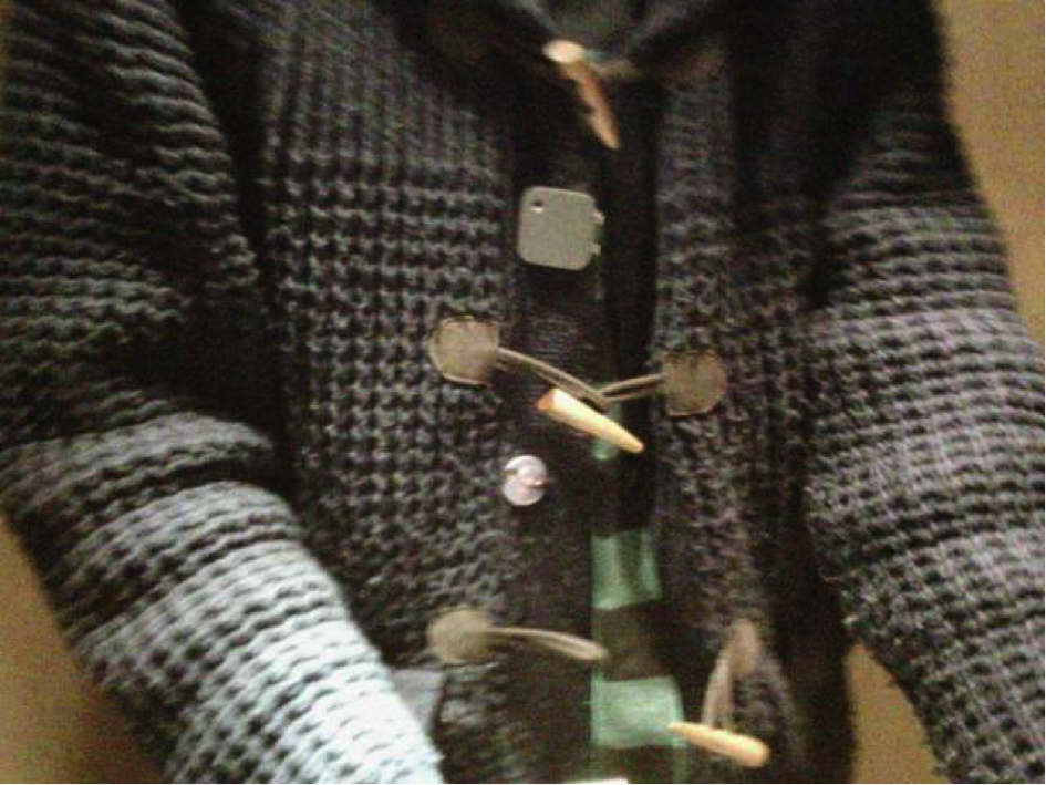 Figure 1. One of the pictures of me reflected in a mirror and depicting Narrative Clip as attached to my sweater.