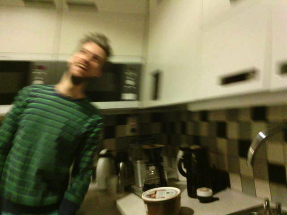 Figure 11. A depiction of a more transient, (hence appearing quite blurry) moment of laughter.