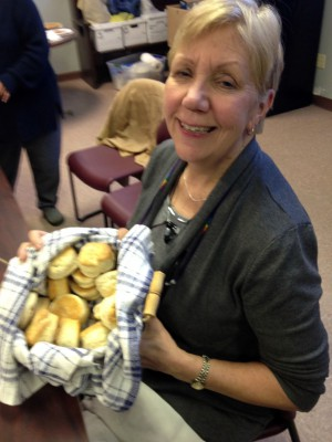Ann with her biscuts