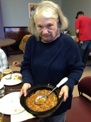 Judy with her pulled pork