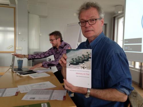 Book seminar with Oscar Hemer and Anders Høg Hansen, editors. Photo: Tobias Denskus.