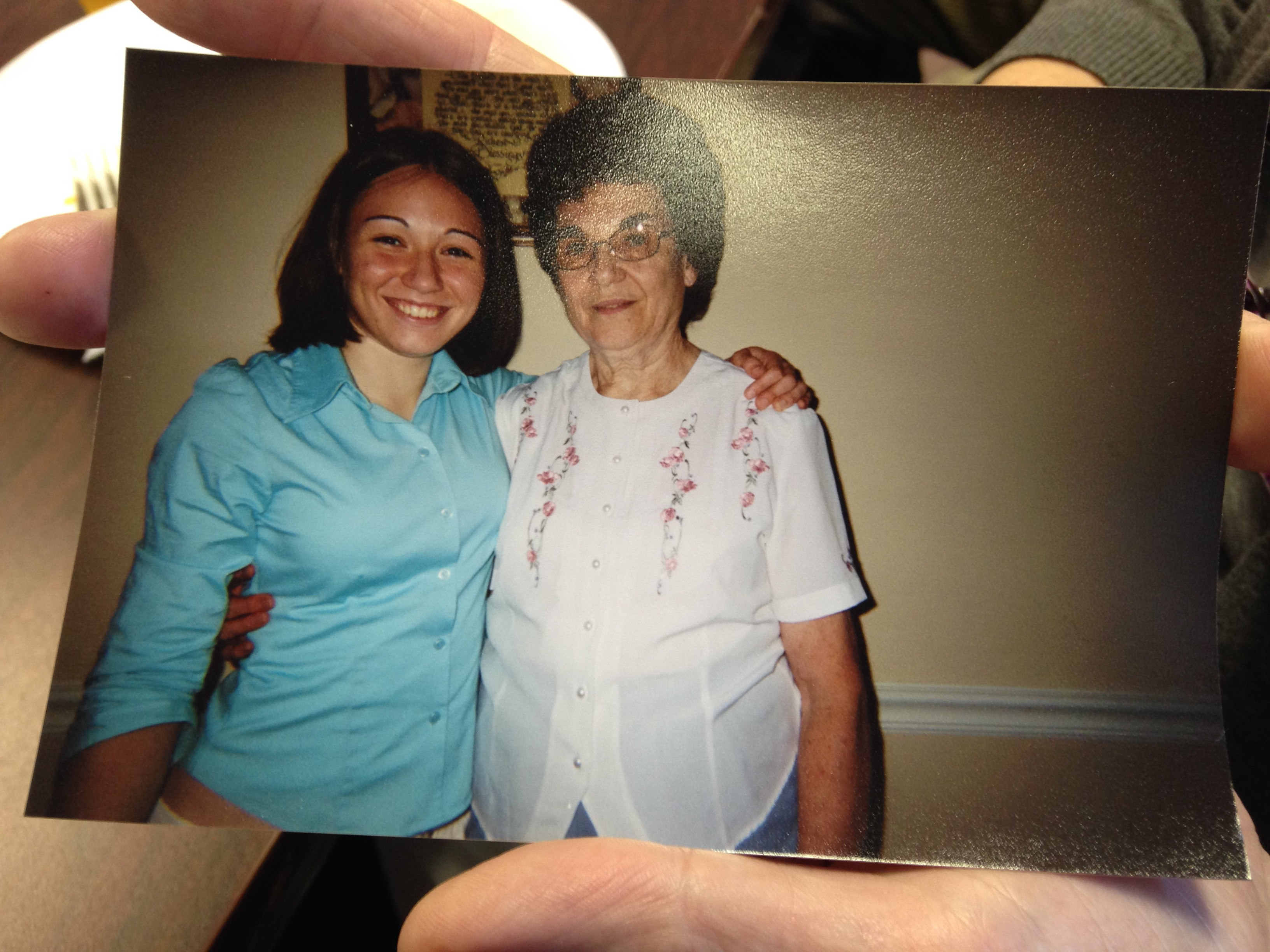 Picture shared of Keturah with Grandmother