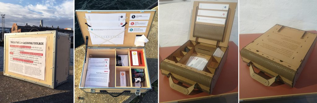 Two different versions of the Co-archiving Toolbox.